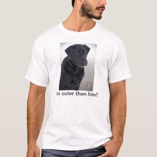 I'm cuter than him! - Black lab Apparel T-Shirt