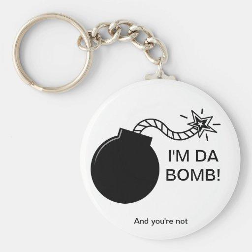 I'm Da Bomb! Basic Round Button Keychain