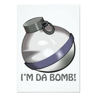 "Im Da Bomb 5"" X 7"" Invitation Card"