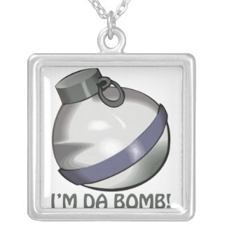 Im Da Bomb Square Pendant Necklace