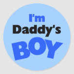 I'm Daddy's Boy T-shirts and Gifts Round Stickers