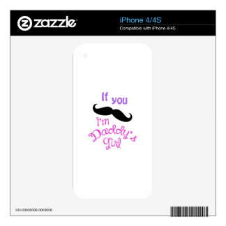 IM DADDYS GIRL DECAL FOR THE iPhone 4