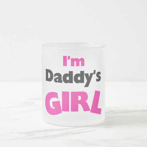 I'm Daddy's Girl Tshirts and Gifts 10 Oz Frosted Glass Coffee Mug