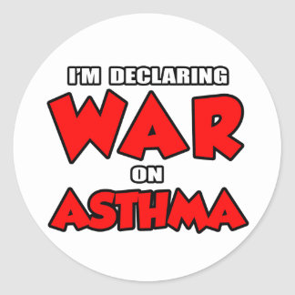 I'm Declaring War on Asthma Classic Round Sticker