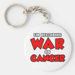 I'm Declaring War on Cancer Keychains