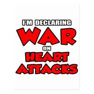 I'm Declaring War on Heart Attacks Postcards