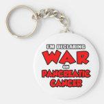I'm Declaring War on Pancreatic Cancer Keychains