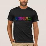 """I'm Definitely Out"" Rainbow Text LGBT T-Shirt"
