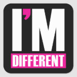 I'm Different Stickers