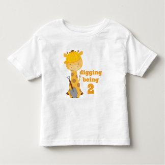 Im Digging Being Two 2nd Birthday Toddler T-shirt