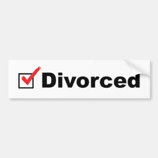 I'm Divorced And Available Bumper Sticker