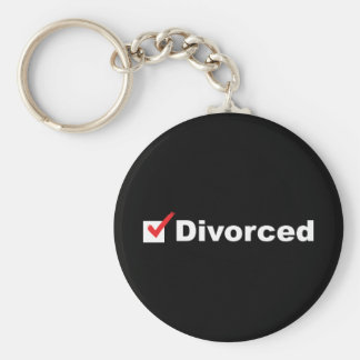 I'm Divorced And Available Keychain