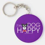 I'm Dog Happy Llavero Redondo Tipo Pin