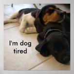 I'm dog  tired print
