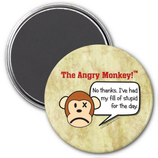 I'm done dealing with stupid people for the day refrigerator magnet