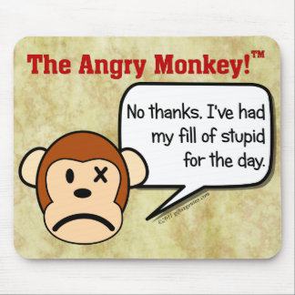 I'm done dealing with stupid people for the day mouse pad