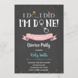 Im done divorce party invitation