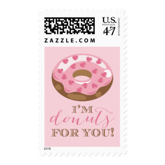 I'm Donuts For You Postage Stamp