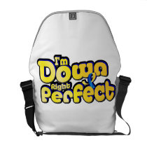 I'm Down Right Perfect Down Syndrome Suppor Courier Bag