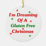 I'm Dreaming Of A Gluten Free Christmas Double-Sided Ceramic Round Christmas Ornament