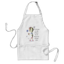 I'm dreaming of a white Christmas, Funny Wine Gift Adult Apron