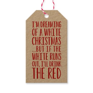 Christmas Themed I'm Dreaming Of A White Christmas Gift Tags