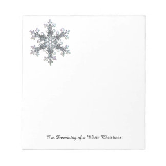 I'm Dreaming of a White Christmas - Snow flake Notepad