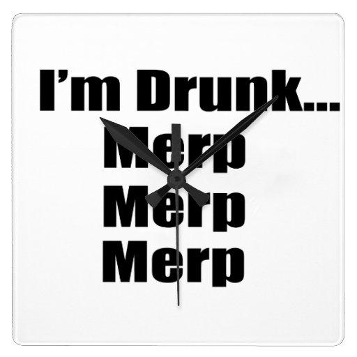 """""""I'm drunk...Merp, Merp, Merp"""" Wall Clocks"""