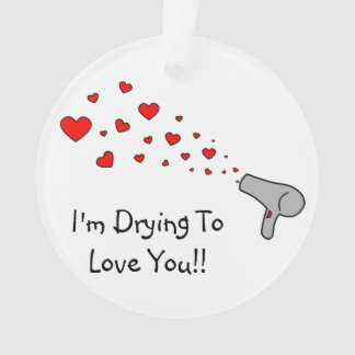 I'm Drying To Love You - Hair Dryer & Hearts