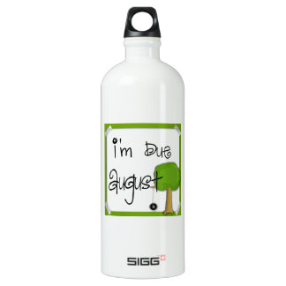 I'm Due August - Tire Swing Water Bottle