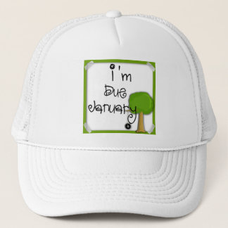 I'm Due January ballcap Trucker Hat