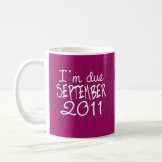 I'm due SEPTEMBER 2011 MUG by Tracey Smith