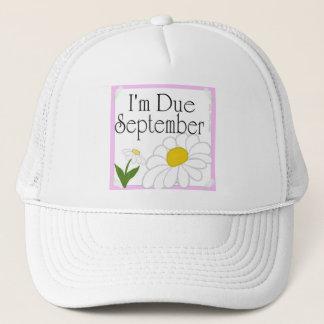 I'm Due September Trucker Hat