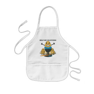 I'm Dyeing Easter Egg Pun Cartoon Kids' Apron