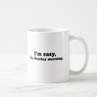 IM EASY LIKE SUNDAY MORNING CLASSIC WHITE COFFEE MUG