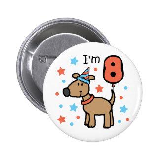 I'm Eight Doggie 2 Inch Round Button