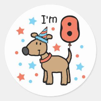 I'm Eight Doggie Classic Round Sticker