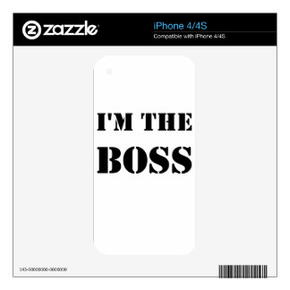 im el boss.png calcomanías para el iPhone 4S