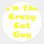 Im el individuo loco del gato etiqueta