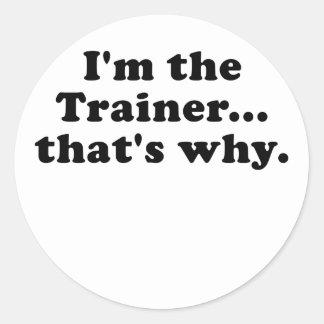 Im el instructor que es por qué etiqueta redonda