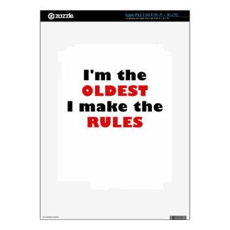 Im el más viejo hago las reglas iPad 3 skins