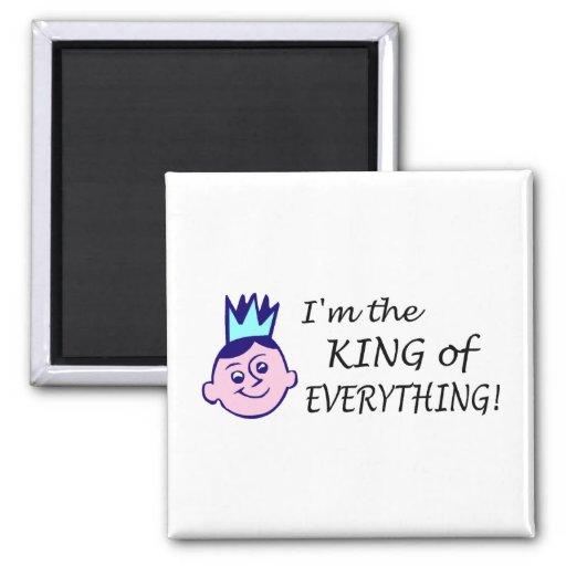 Im el rey Of Everything Imán Para Frigorífico