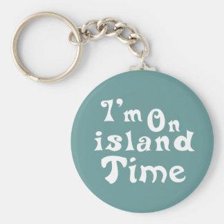im el tiempo de la isla llavero redondo tipo pin