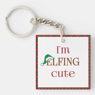 I'm Elfing Cute Fun Holiday Keychain