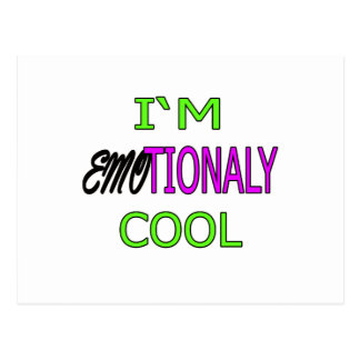 IM EMOTIONALY COOL funny Emo Electro Dance Postcard