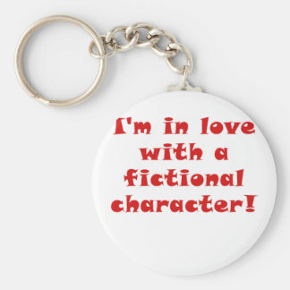 Im en amor con un carácter ficticio llavero redondo tipo pin
