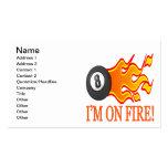 Im en el fuego tarjetas de visita