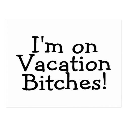 Im en perras de las vacaciones tarjeta postal