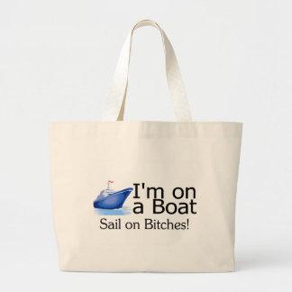 Im en un barco bolsas lienzo