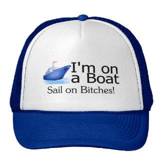 Im en un barco gorros bordados